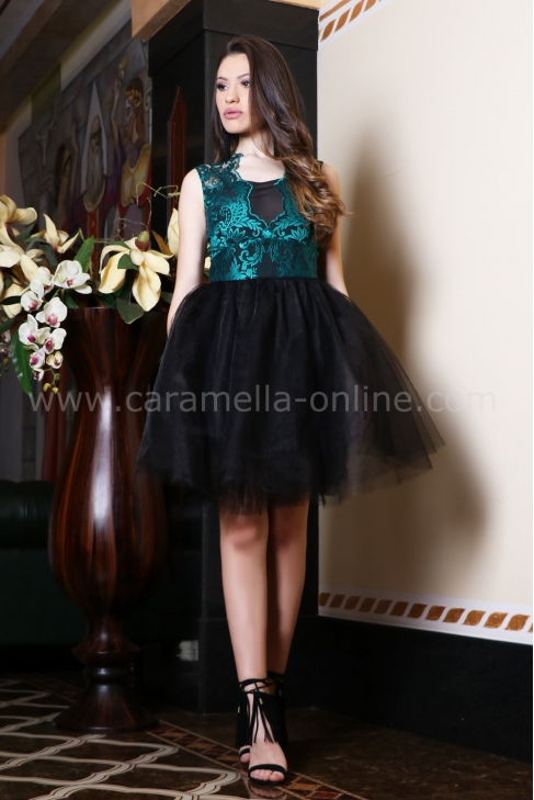 Dress Lux Lace Emerald 012436