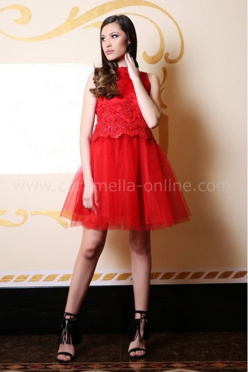 Dress Red Lace 012429