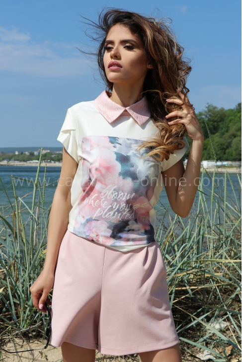 Blouse Pink Bloom 022303