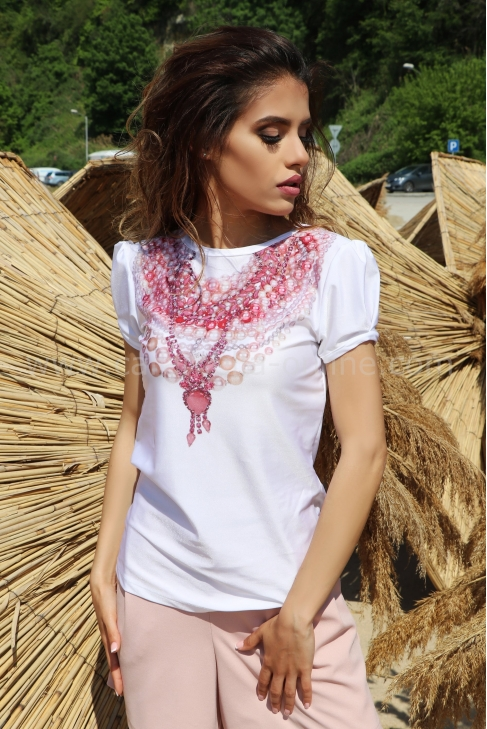 Blouse Pink Jewelry 022307