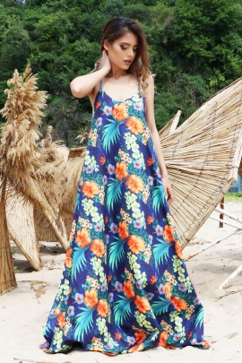 Dress Tropical Flowers