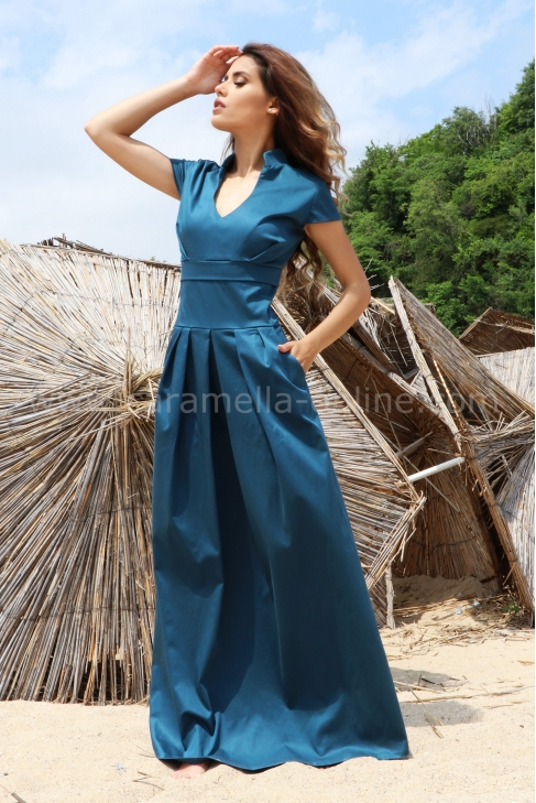 Dress Blue Emerald 012477