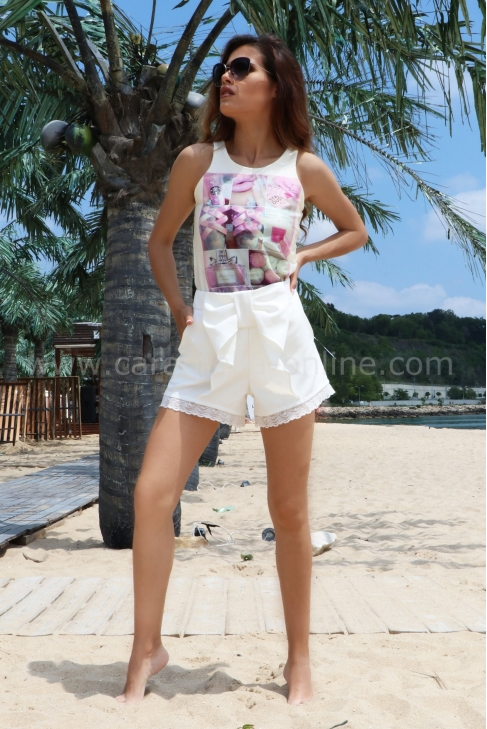 Pants White Lace 032106