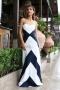 Dress Blue&White 012496 3