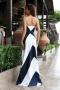 Dress Blue&White 012496 2