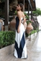 Dress Blue&White 012496 4