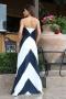 Dress Blue&White 012496 5
