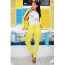 Pants Yellow Shine