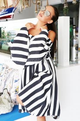 Dress White&Blue