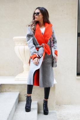 Палто Girl Gray