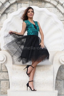 Dress Lux Lace Emerald