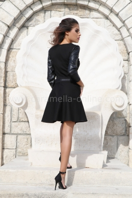 Рокля Black Leather