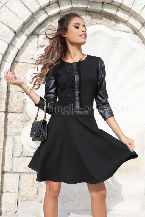Рокля Black Leather 012535