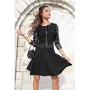 Dress Black Leather