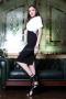 Dress White & Black 012442 3