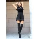 Къси панталонки Black Chanel