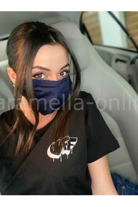 Предпазна маска за многократна употреба - Тъмносиня