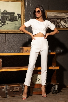 Панталон Slim White