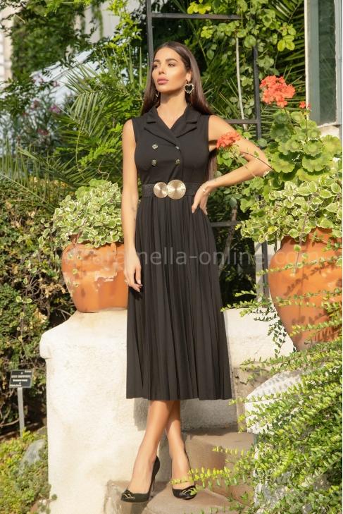 Рокля Black Pleats 012664