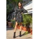 Рокля Leather Black