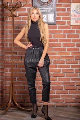 Кожен Панталон Just Black