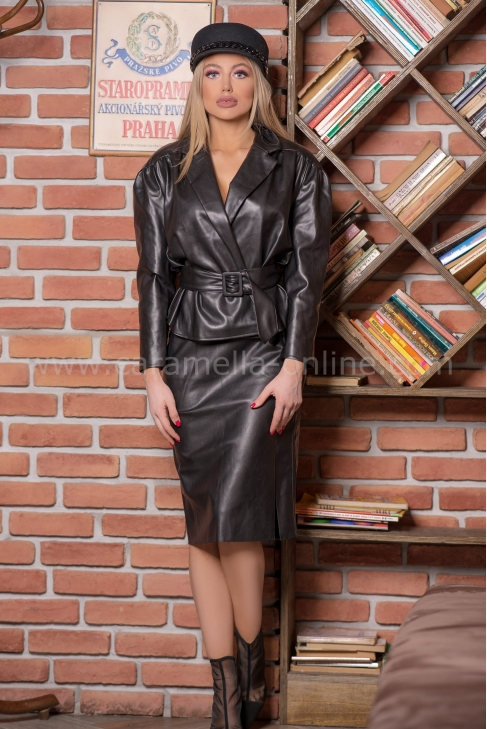 Slim Leather Skirt 032213