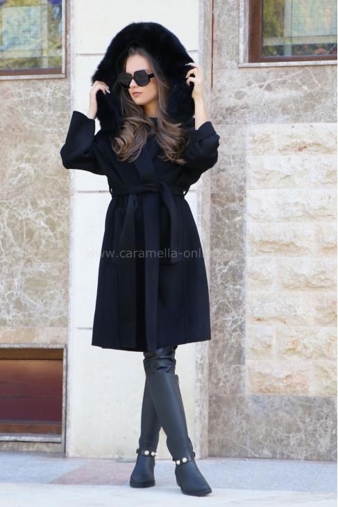 Кашмирено палто Hearted Girl 062087