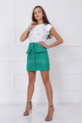 Пола Green Boucle Wool