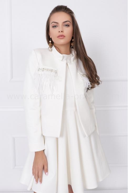 Дамско сако Classy White 052111