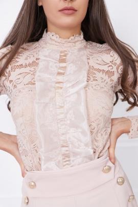 Блуза - Боди от дантела Nude