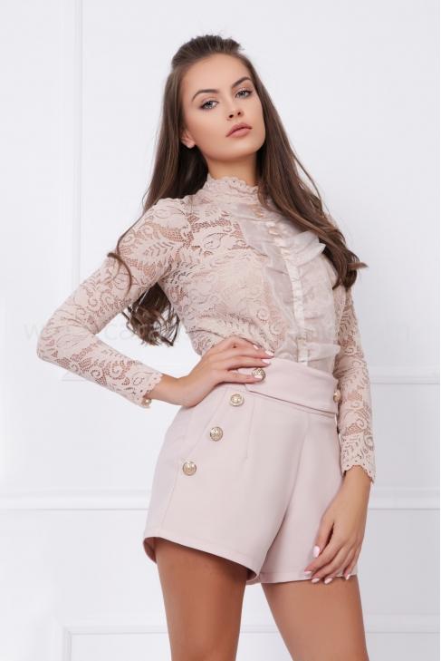 Блуза - Боди от дантела Nude 022558