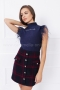 Блуза - боди с пера Blue star 022563 1