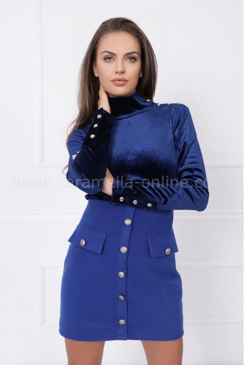 Блуза от кадифе Blue shine 022565