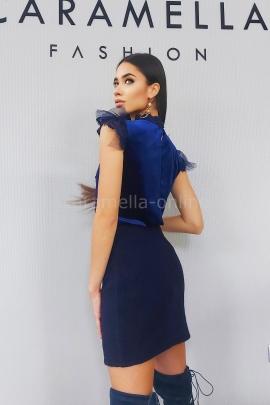 Блуза от кадифе Blue Fantasy