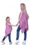 Asymmetric pink tunic with braided neck 200047 3