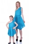 Blue asymmetric flared summer touch dress 200049 2