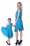 Blue asymmetric flared summer touch dress 200049 4