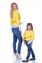 Short yellow jacket with draped sleeves and waist cord 200053 3