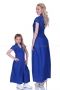 Long blue cotton casual dress 200054 3