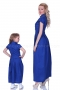 Long blue cotton casual dress 200054 4